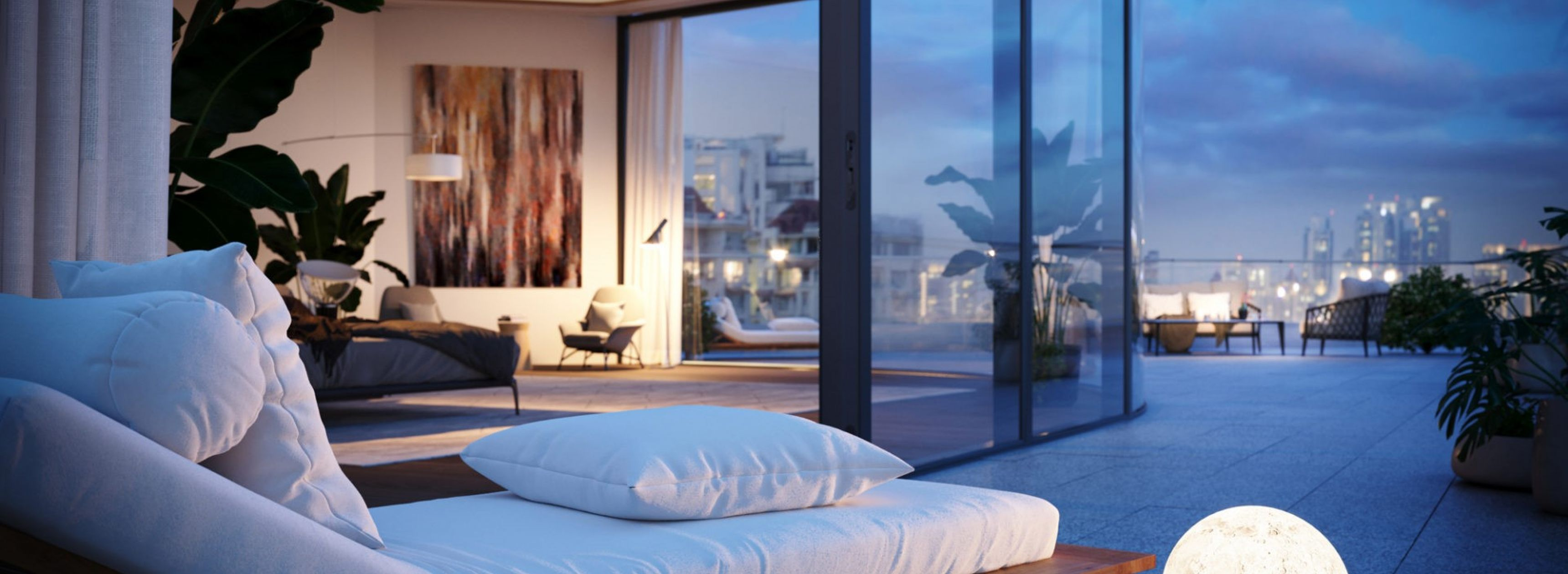 The Boundary designed hotel room photo realistic rendering